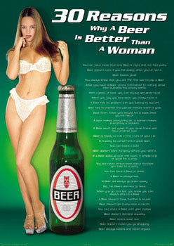 Plakát 30 Reasons - Beer/woman