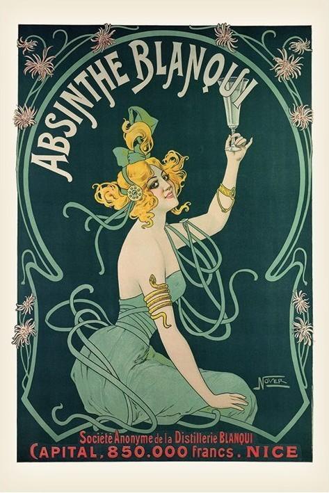 Plakát Absinthe Blanqui
