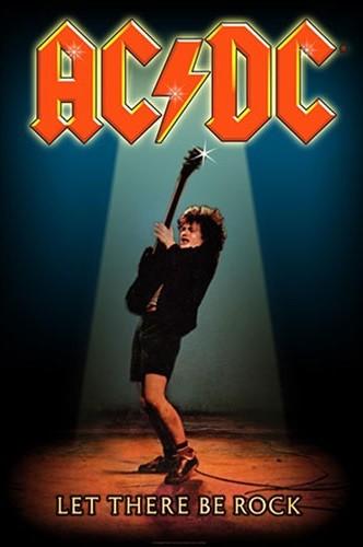 Textilní plakát AC/DC – Let There Be Rock