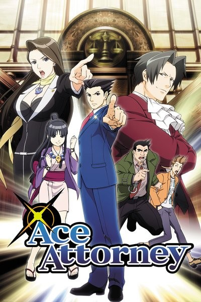 Plakát Ace Attorney - Key Art