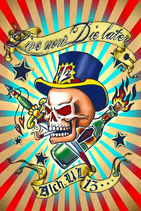 Plakát Alchemy - žij teď zemři později