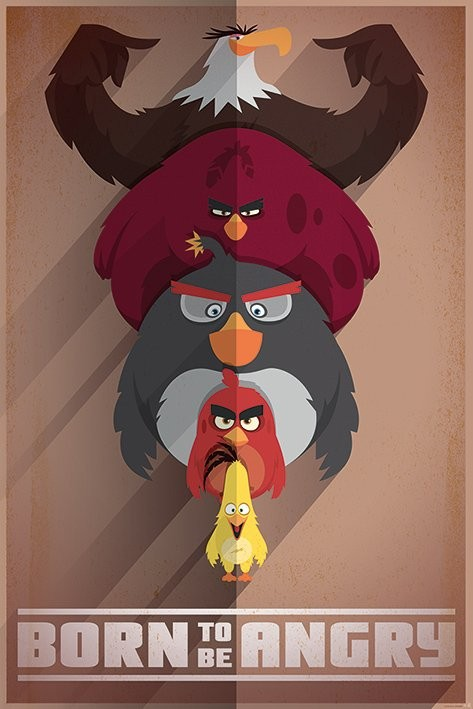 Plakát Angry Birds - Born to be Angry