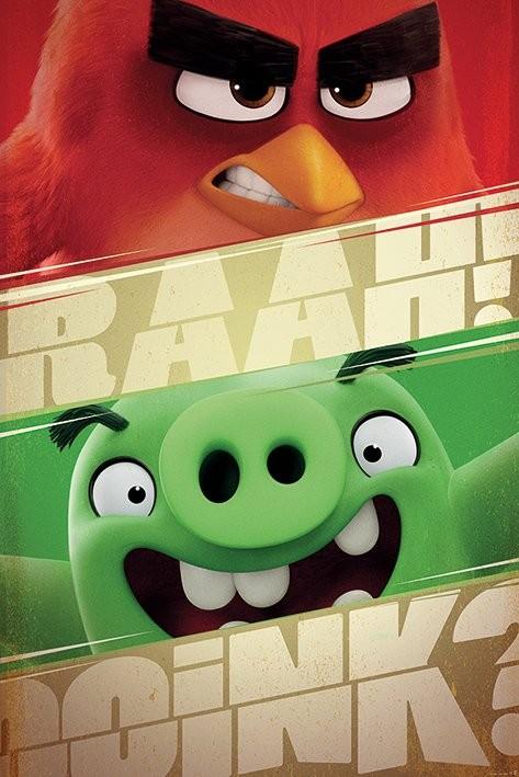 Plakát Angry Birds - Raah!