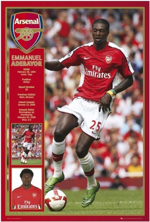 Plakát Arsenal - adebayor 08/09