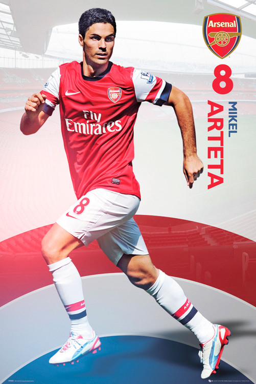 Plakat Arsenal - arteta 12/13