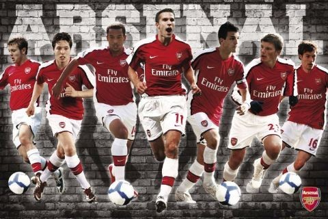 Plakat Arsenal - players 09/10