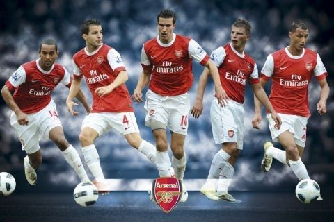 Plakat Arsenal - players 2010/2011