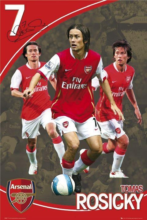 Plakát Arsenal - rosicky 07/08