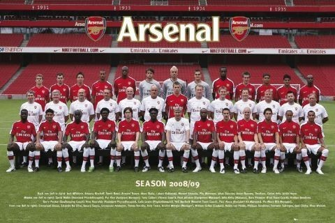 Plakát Arsenal - Team photo 08/09