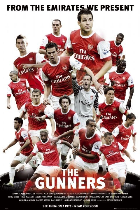 Plakát Arsenal - the gunners 2010/2011