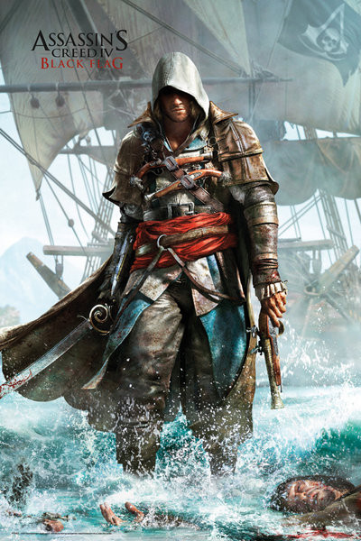 Plakát Assassin's creed 4 - shore