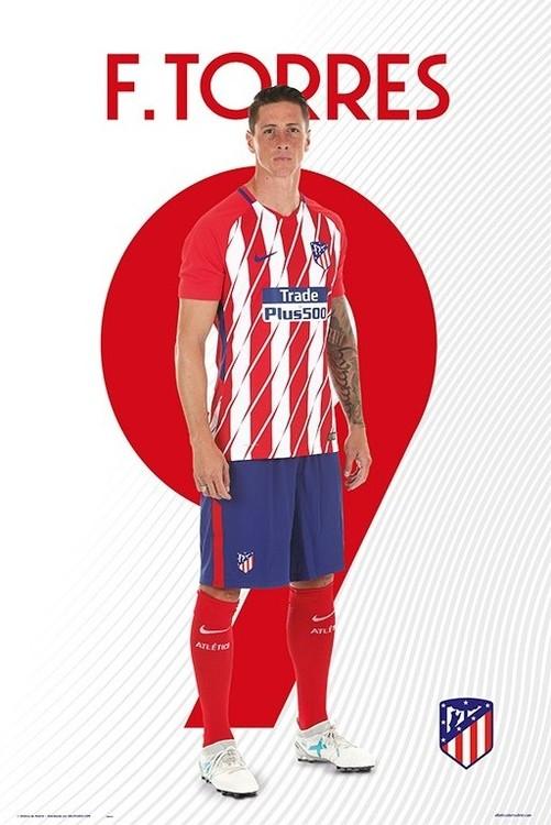 Plakát Atletico Madrid 2017/2018 -  F. Torres
