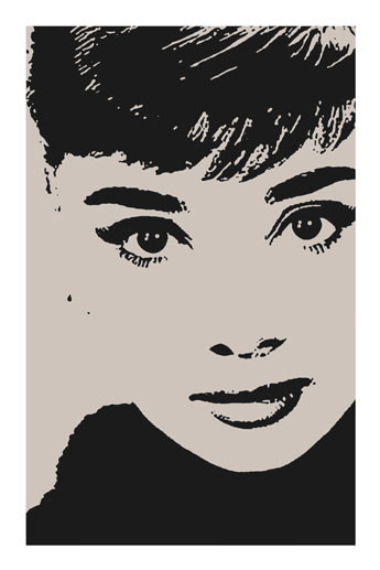 Plakát AUDREY HEPBURN - by avela