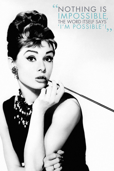 Plakat Obraz Audrey Hepburn Nothing Is Impossible Kup Na Posterspl