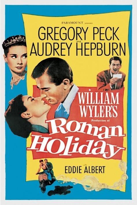 Plakát AUDREY HEPBURN - roman holiday