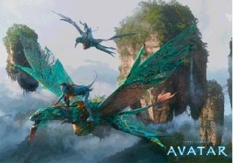AVATAR - flying Plakat 3D Oprawiony