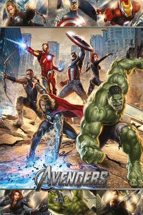 Plakát AVENGERS - action