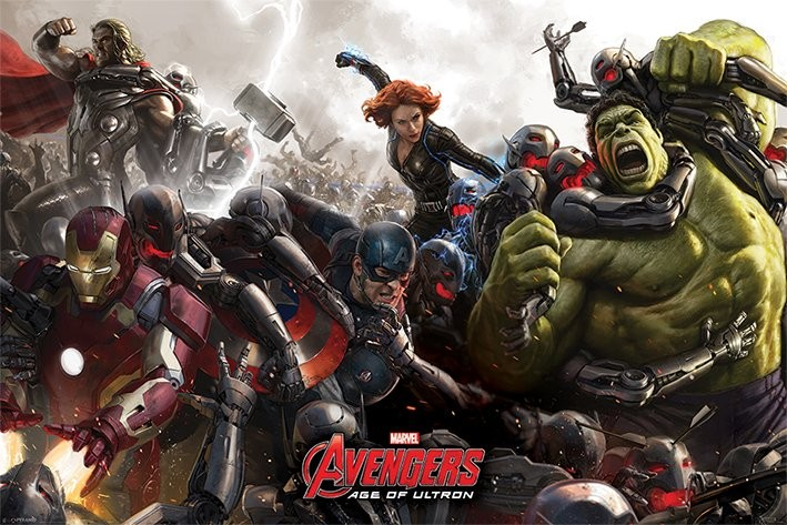 Plakát Avengers: Age Of Ultron - Battle
