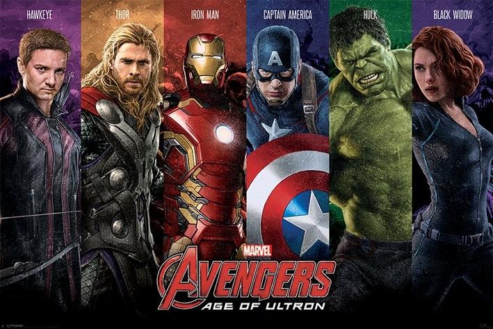 Plakát Avengers: Age Of Ultron - Team