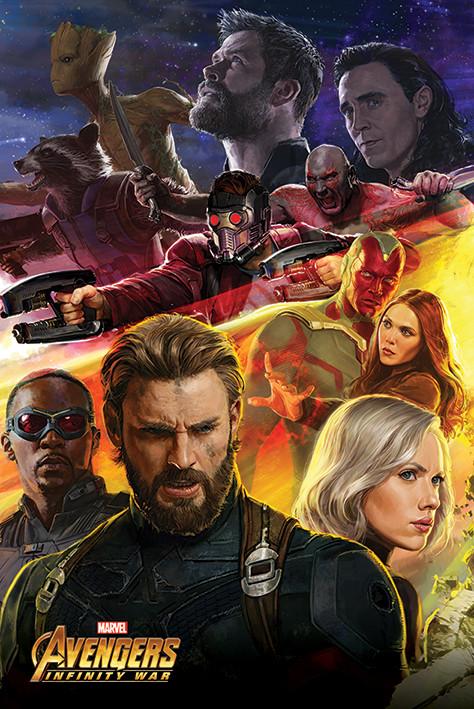 Plakat  Avengers Infinity War - Captain America