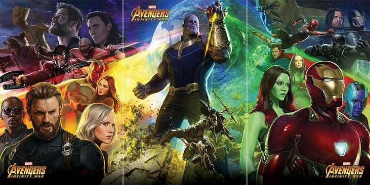 Plakat Avengers Infinity War Thanos