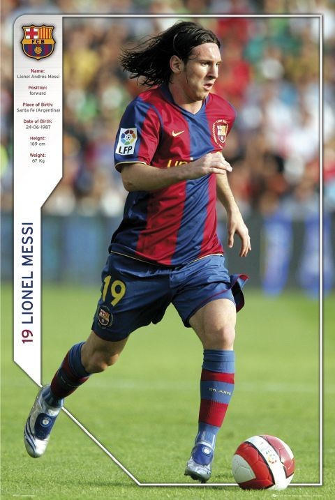 Plakat Barcelona - Messi 07/08