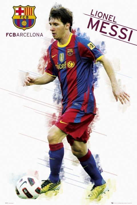 Plakat Barcelona - Messi 2010/2011