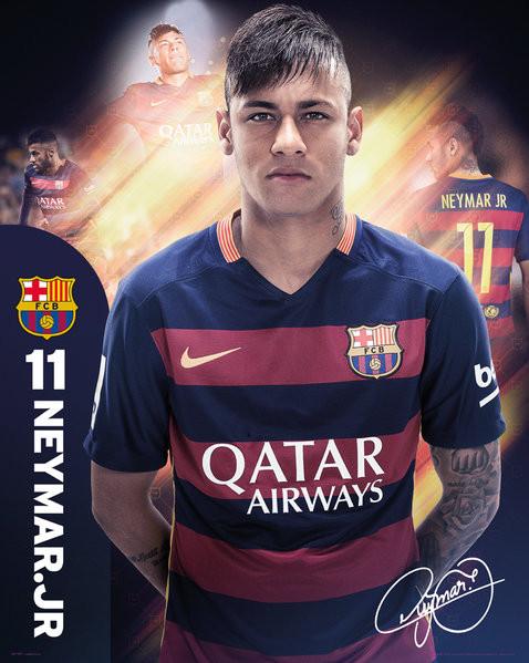 Plakat Barcelona - Neymar 15/16