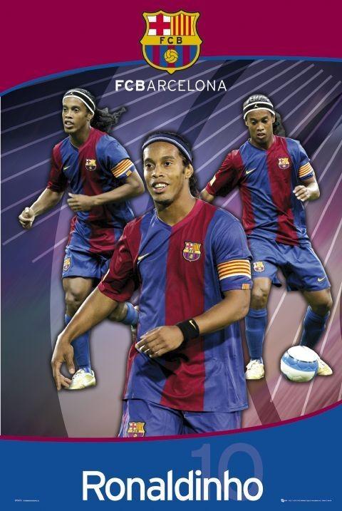 Plakát Barcelona - ronaldinho trio
