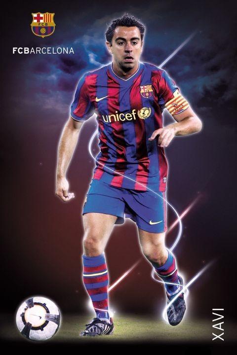 Plakát Barcelona - Xavi 09/10
