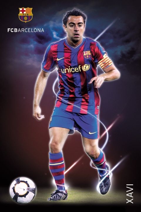 Plakat Barcelona - Xavi 09/10