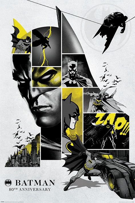 Plakát  Batman - 80th Anniversary
