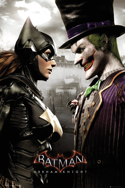 Plakat Batman Arkham Knight - Batgirl and Joker