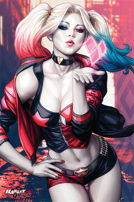 Plakát Batman - Harley Quinn Kiss