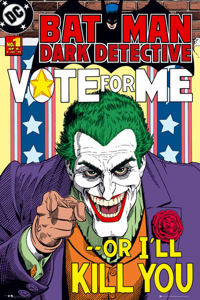 BATMAN - joker vote for me plakát, obraz
