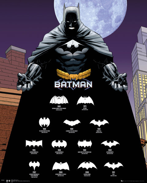 Plakát Batman - Logos
