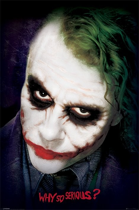 Plakat Batman: Mroczny Rycerz - Joker Face