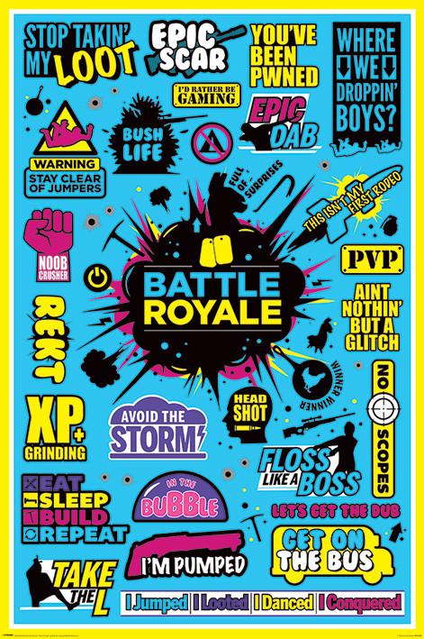 Plakát  Battle Royale - Infographic