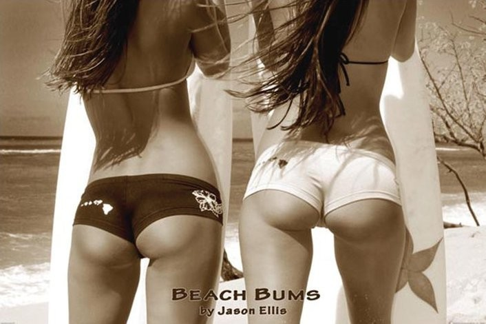 Plakát Beach bums - by jason ellis