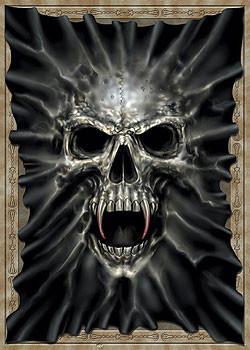 Plakát Beast within - lebka v plátně