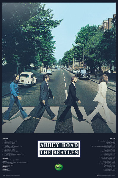 Plakát  Beatles - Abbey Road Tracks