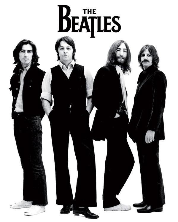 Plakát Beatles - white