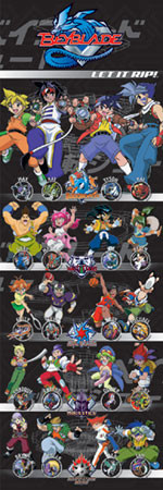 Plakat BEYBLADE - all characters