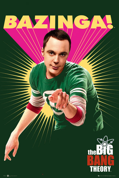 Plakát BIG BANG THEORY - Bazinga