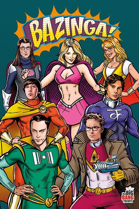 Plakát BIG BANG THEORY - superheroes