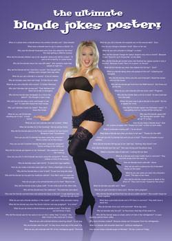 Plakát Blonde jokes