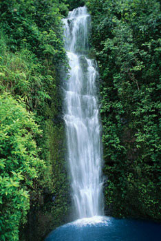 Plakat Blue lagoon – waterfall