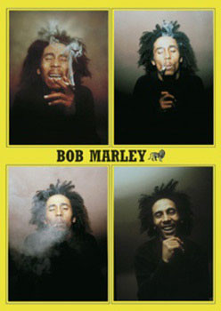 Plakát Bob Marley - 4 b&w.ikony
