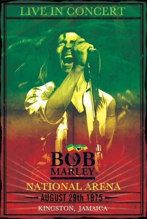 Plakat Bob Marley - concert