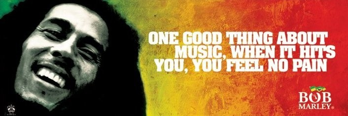 Plakát Bob Marley - music